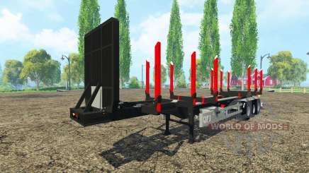 Huttner timber trailer for Farming Simulator 2015