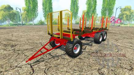 Fliegl timber trailer v2.4 for Farming Simulator 2015