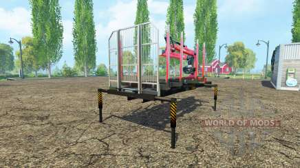 A timber platform with manipulator v1.2 for Farming Simulator 2015