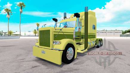 Skin Large car Cartage on the truck Peterbilt 389 for American Truck Simulator