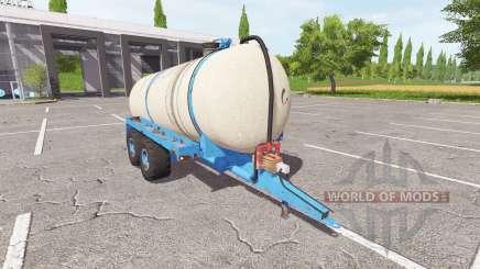 The trailer-cistern for liquid manure for Farming Simulator 2017