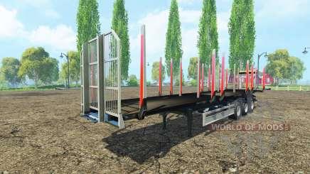 The timber Fliegl semi trailer v1.1 for Farming Simulator 2015