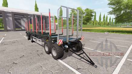 Trailer Fliegl timber for Farming Simulator 2017