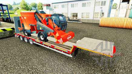 Low sweep with a cargo of agricultural machinery for Euro Truck Simulator 2