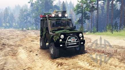 UAZ 315195 hunter turbodiesel expedition v4.0 for Spin Tires