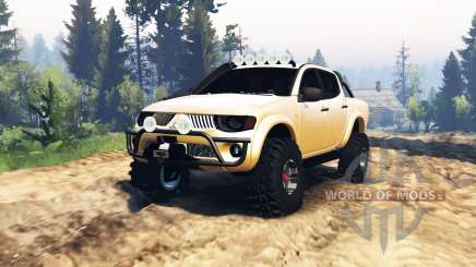 Mitsubishi L200 Triton 2008 v2.0 for Spin Tires