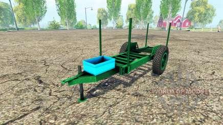 Rustic timber trailer for Farming Simulator 2015