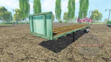 Semi-trailer platform for Farming Simulator 2015