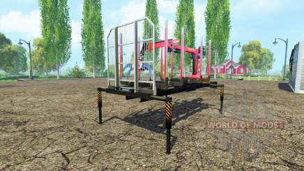 A timber platform with manipulator for Farming Simulator 2015