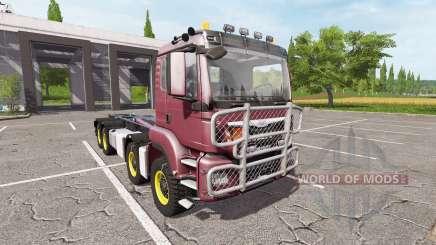 MAN TGS 8x8 hooklift v2.0 for Farming Simulator 2017