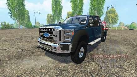 Ford F-550 flatbed for Farming Simulator 2015