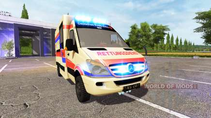 Mercedes-Benz Sprinter Rettungsdienst for Farming Simulator 2017