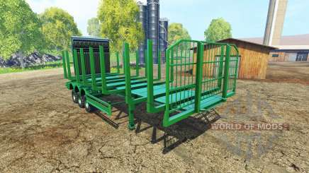 A large semi-trailer timber for Farming Simulator 2015