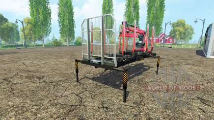 A timber platform with manipulator v1.6 for Farming Simulator 2015