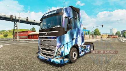 Skin Space Nature on a Volvo truck for Euro Truck Simulator 2