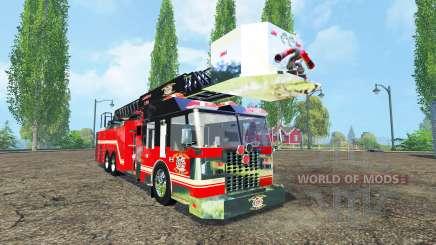 Fire truck for Farming Simulator 2015