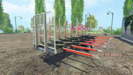 The timber Fliegl semi trailer v1.5 for Farming Simulator 2015