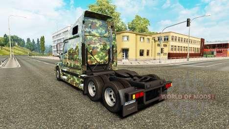 Army skin for Volvo truck VNL 670 for Euro Truck Simulator 2