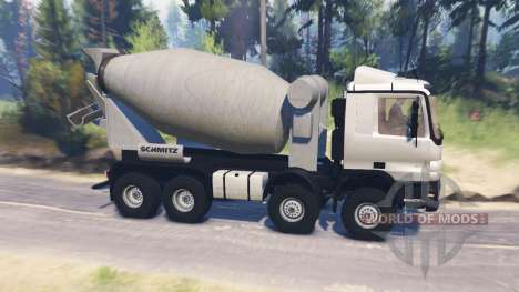 Mercedes-Benz Actros (MP2) 8x8 v1.0 for Spin Tires
