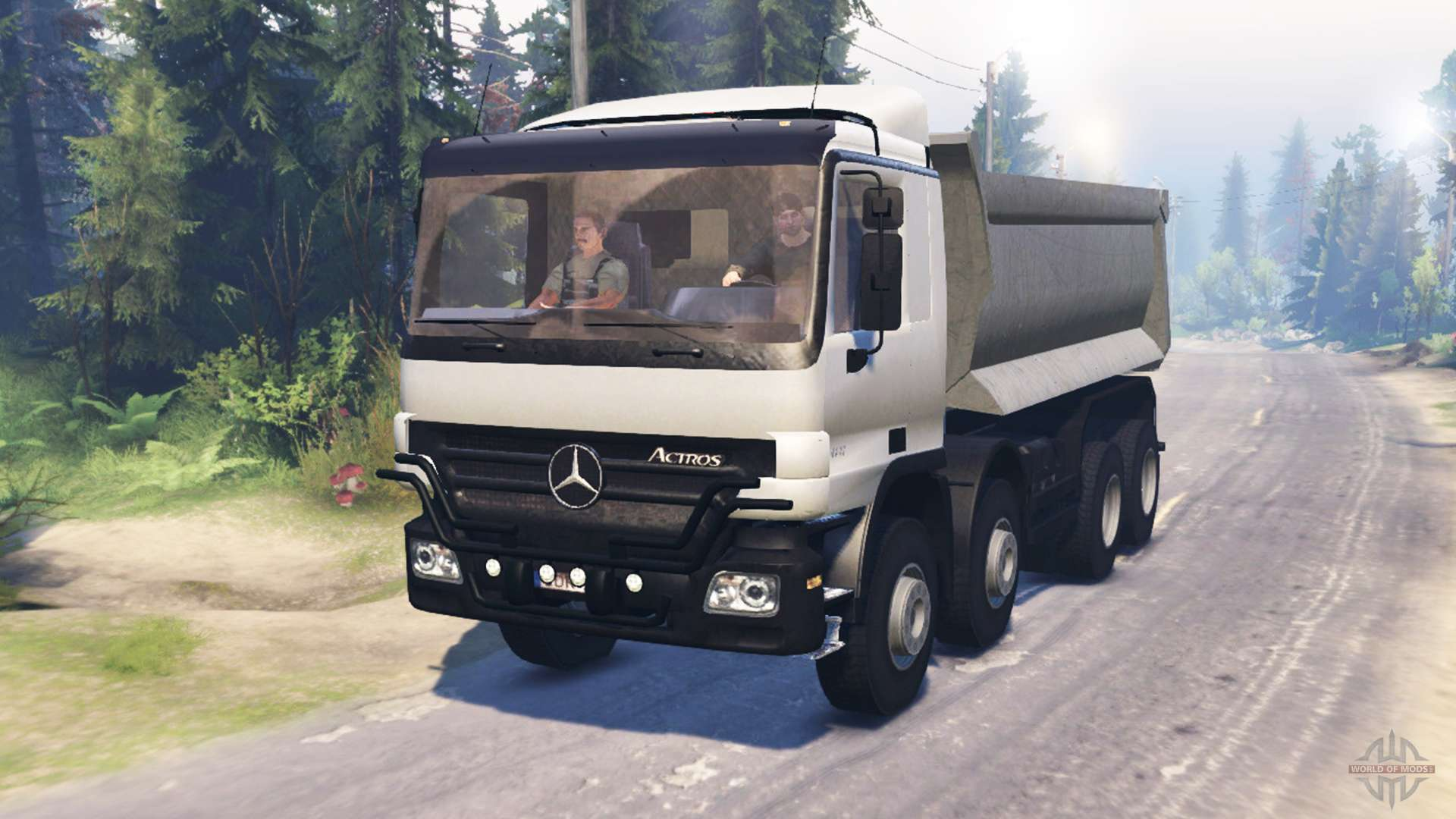 Mercedes benz actros mp2 8x8 v0 9 for spin tires for Tires for mercedes benz