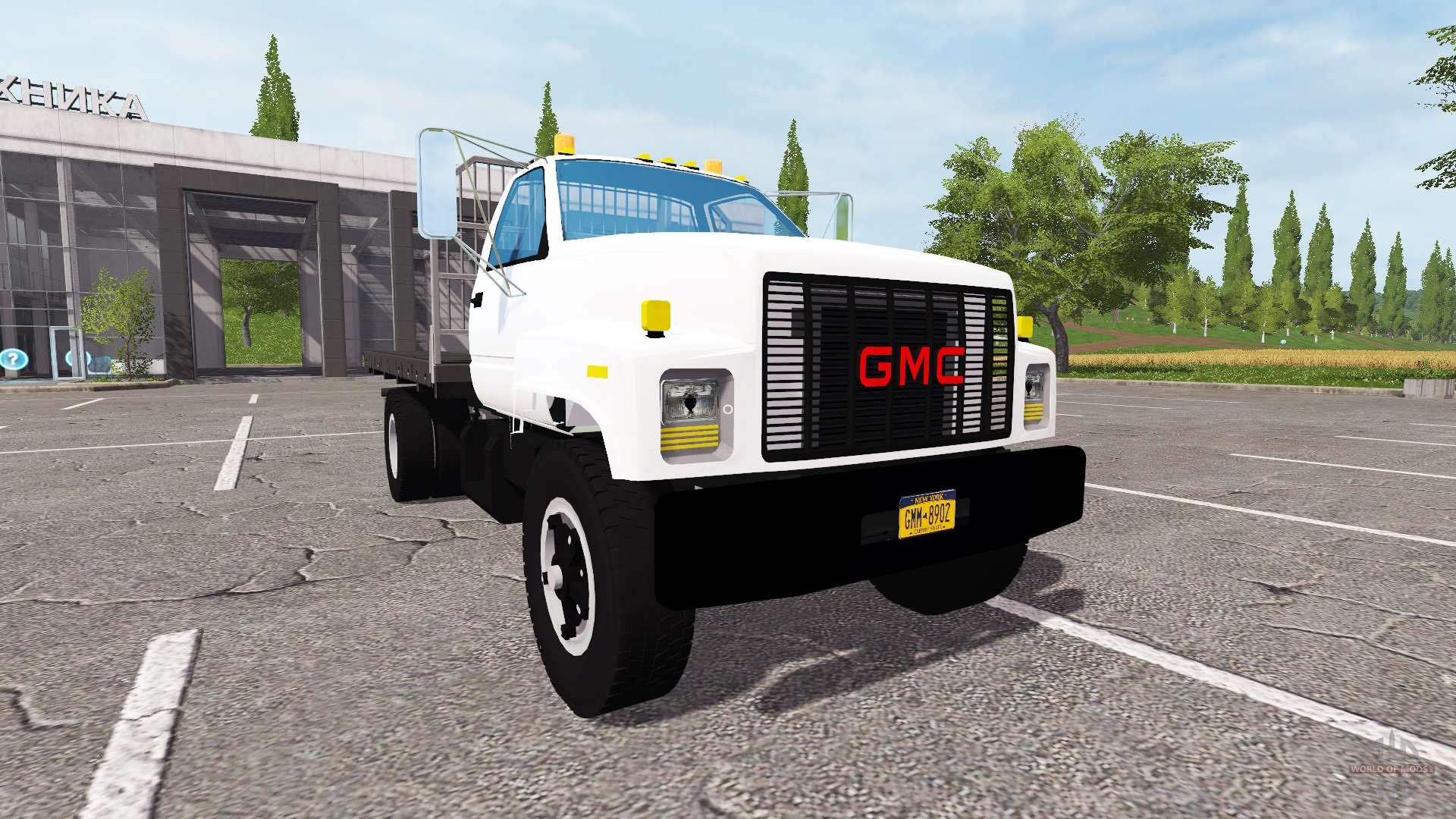 GMC C7500 TopKick flatbed for Farming Simulator 2017