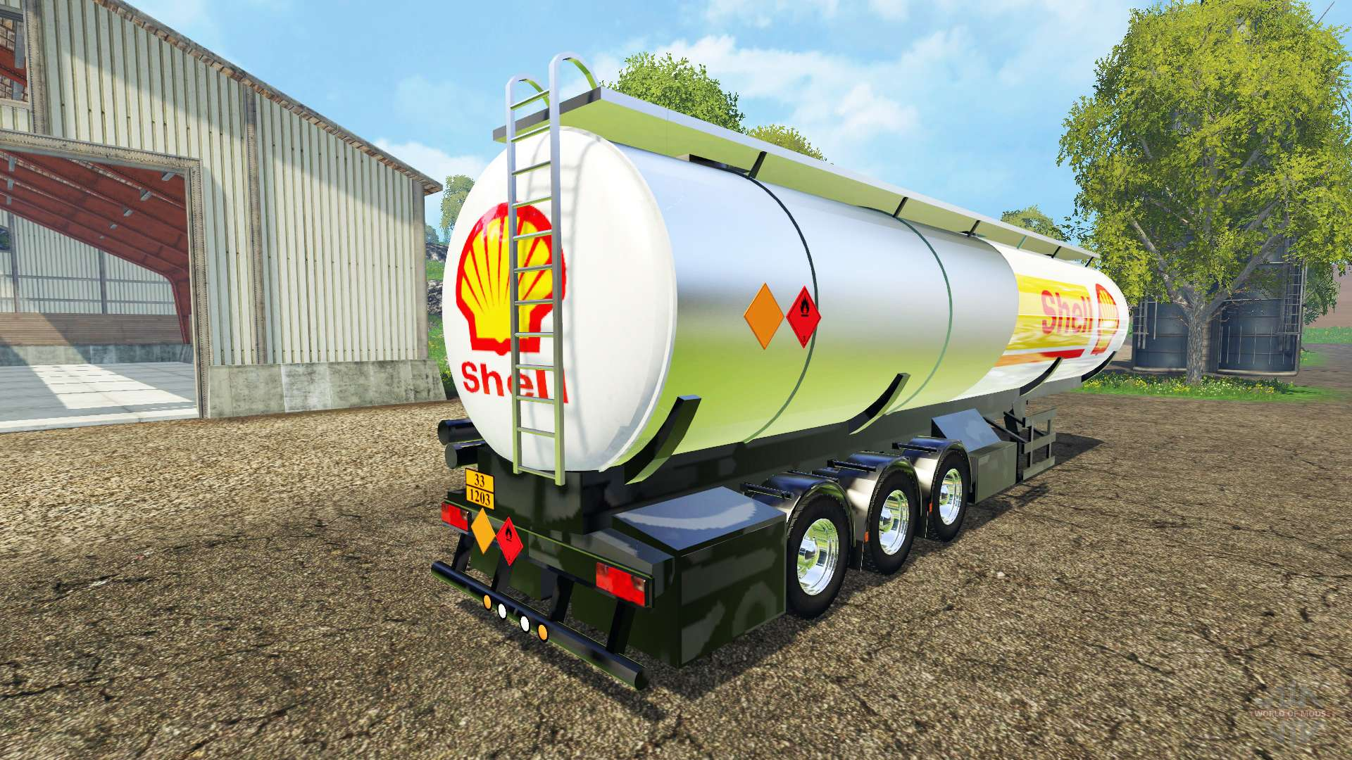 Fuel semi trailer for farming simulator 2015 for Cuve fuel exterieur