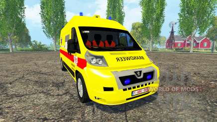 Peugeot Boxer Belgian Ambulance for Farming Simulator 2015