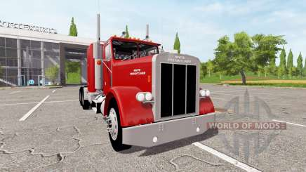 White-Freightliner Conventional for Farming Simulator 2017