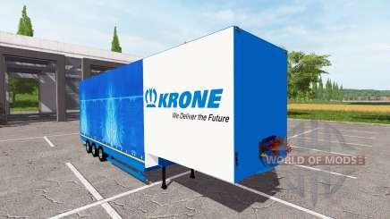 Focal low loader semi-trailer Krone for Farming Simulator 2017