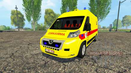 Peugeot Boxer Belgian Ambulance Klina for Farming Simulator 2015