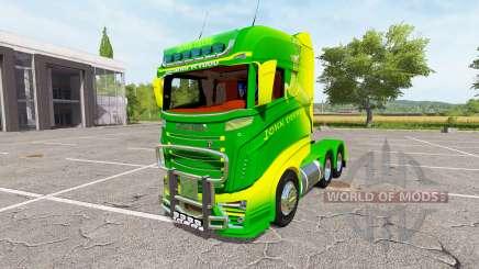 Scania R1000 John Deere v2.0 for Farming Simulator 2017