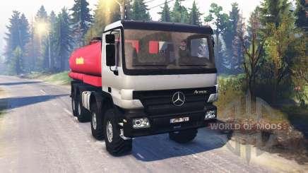 Mercedes-Benz Actros (MP2) 8x8 v1.0 for Spin Tires