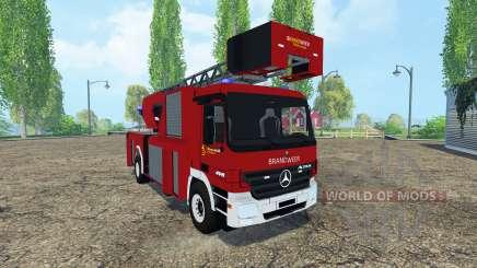 Mercedes-Benz Actros 4141 Belgian Fire Truck for Farming Simulator 2015