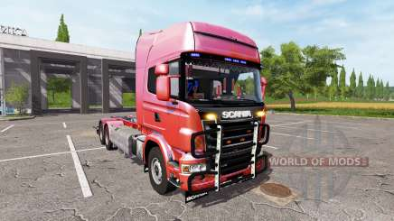 Scania R730 hooklift v1.0.2 for Farming Simulator 2017