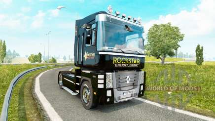 Rockstar Energy skin for Renault Magnum tractor unit for Euro Truck Simulator 2