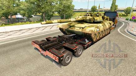 Semi carrying military equipment v1.7 for Euro Truck Simulator 2