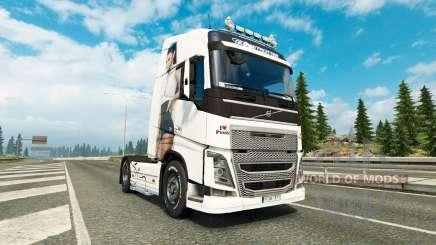 Antonia skin for Volvo truck for Euro Truck Simulator 2