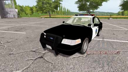 Ford Crown Victoria Police v1.1 for Farming Simulator 2017