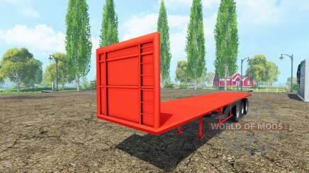 Semi-trailer platform for Farming Simulator 2015