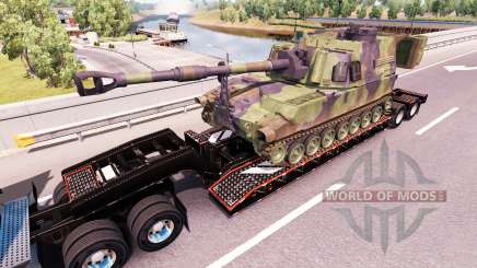 Semi carrying military equipment v1.0.1 for American Truck Simulator