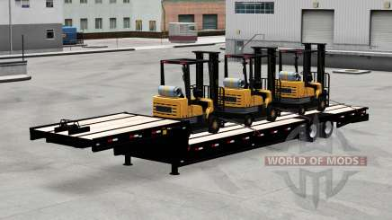 Low-frame trawl with a load of forklifts for American Truck Simulator