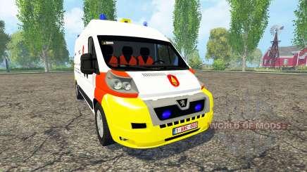 Peugeot Boxer Belgian Bomb Squad for Farming Simulator 2015
