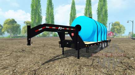 PJ Trailers Gooseneck fertilizer for Farming Simulator 2015