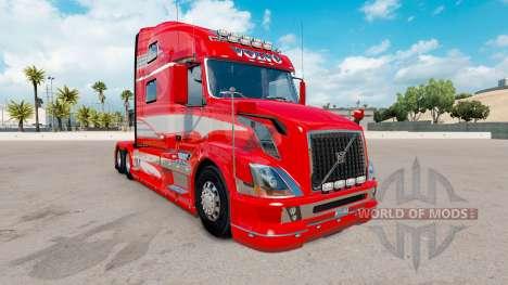 Skin Red Fantasy on the truck Volvo VNL 780 for American Truck Simulator