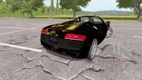 Audi R8 V10 Spyder starlight for Farming Simulator 2017