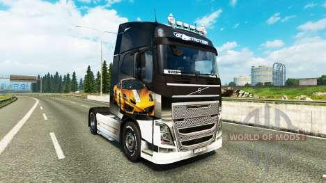 Skin Lamborghini Gallardo to the Volvo trucks for Euro Truck Simulator 2