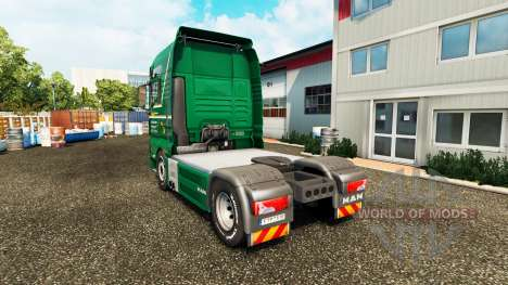 Skin Spedition Bartkowiak on tractor MAN for Euro Truck Simulator 2