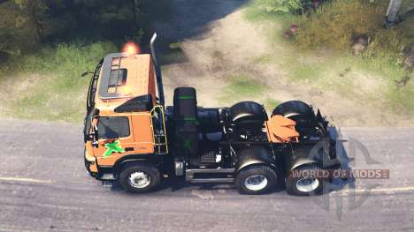 Volvo FMX 500 6x6 for Spin Tires