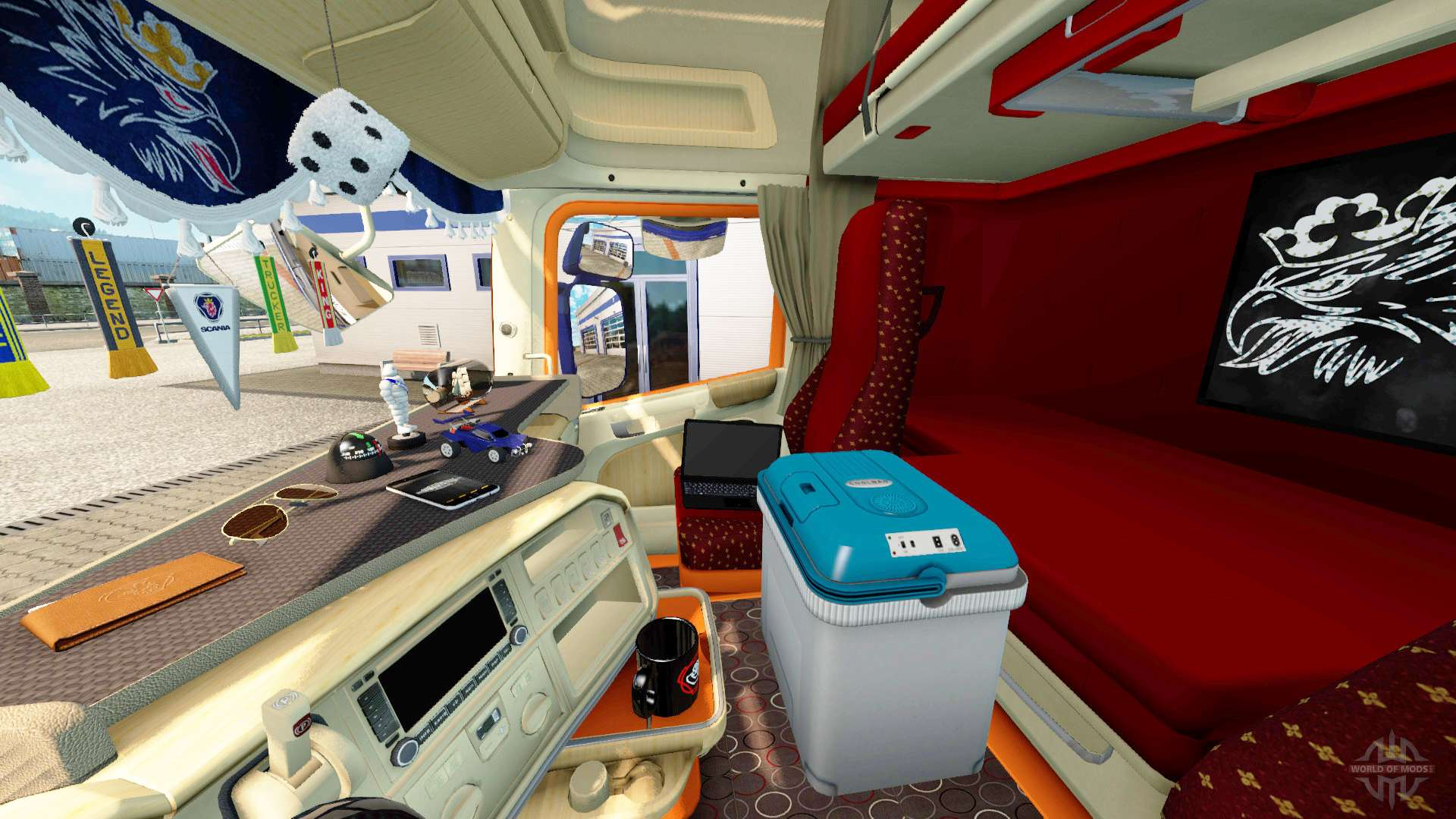 Interior for scania truck for euro truck simulator 2 for Interior decorating simulator