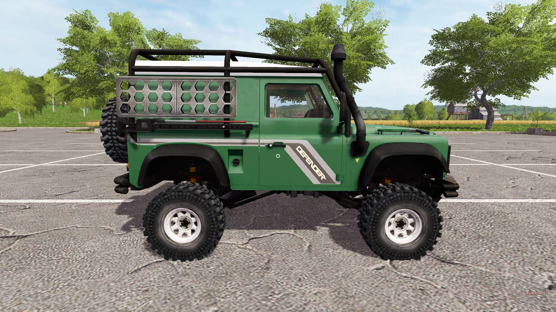land rover defender 90 for farming simulator 2017. Black Bedroom Furniture Sets. Home Design Ideas